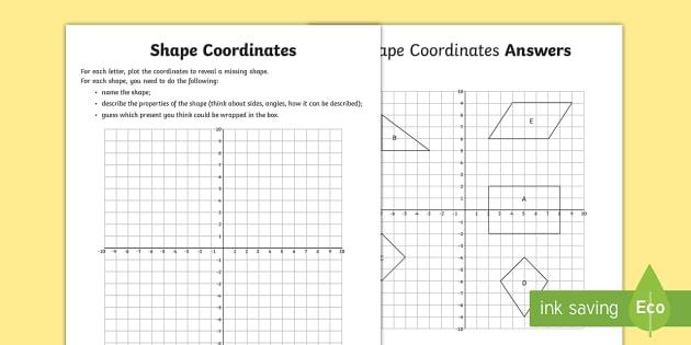 Shape Coordinates Activity
