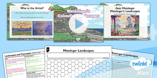 Art and Design: Landscapes and Cityscapes: Metzinger's Colourful Landscapes KS1 Lesson Pack 5