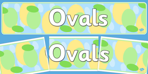 Ovals Dislpay Banner - ovals, display banner, display, banner