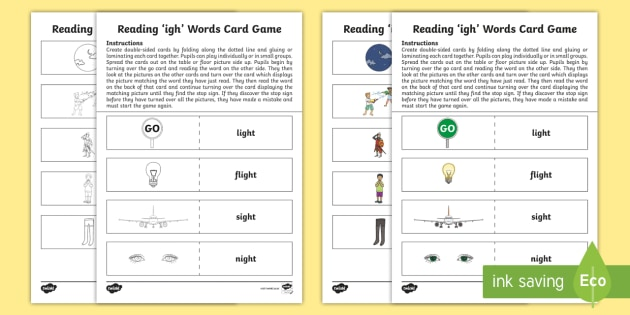 what letter of the alphabet is s reading igh words card cfe phonics early level 52634