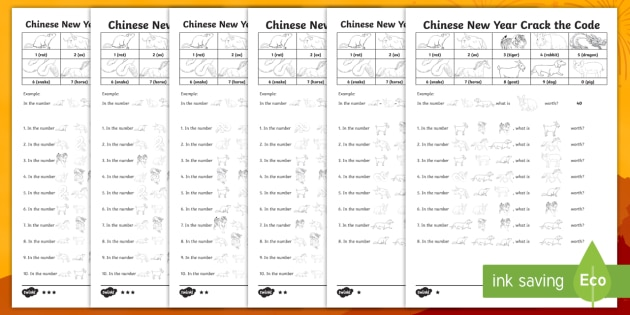 lks2 chinese new year crack the code differentiated worksheet worksheets. Black Bedroom Furniture Sets. Home Design Ideas
