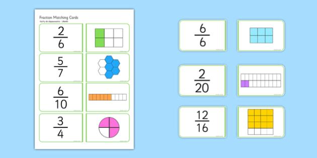 Fractions Matching Cards Polish Translation - polish, fractions, matching cards, matching, matching fractions, fraction cards, numeracy cards, numeracy, numeracy game, fraction game