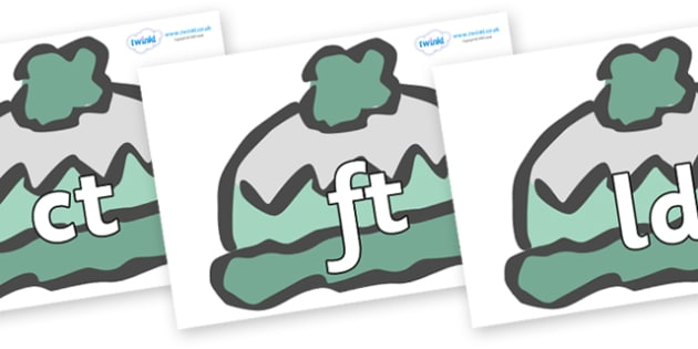 Final Letter Blends on Woolly Hats (Plain) - Final Letters, final letter, letter blend, letter blends, consonant, consonants, digraph, trigraph, literacy, alphabet, letters, foundation stage literacy