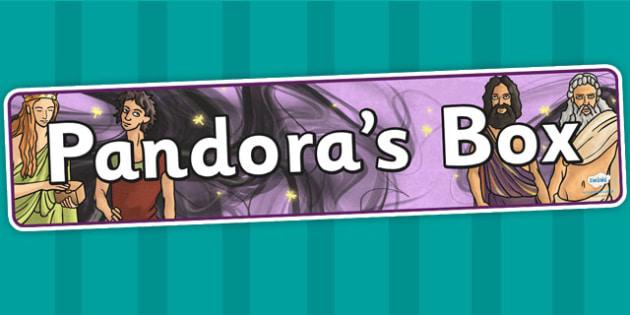 Pandoras Box Ancient Greek Myth Display Banner - greek mythology