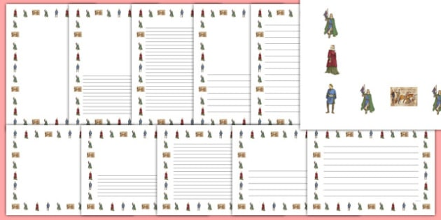 The Normans Page Borders - the normans, page borders, page, borders, history