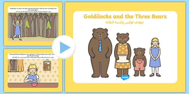 Golidilocks Story Powerpoint Arabic Translation-Arabic-translation