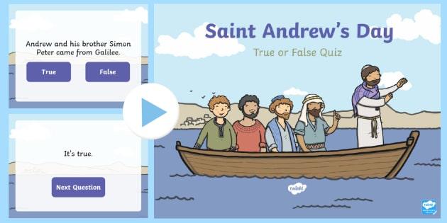 Saint Andrew's Day True or False PowerPoint-Scottish