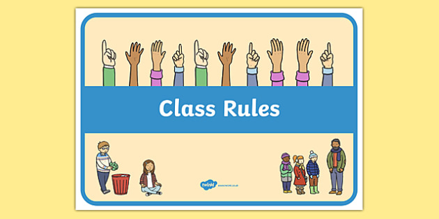image relating to Classroom Rules Printable named Printable Cl Regulations - conduct, background, demonstrate