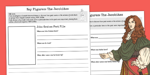 John Graham - The Jacobites Key Figures Fact File Template - jacobites