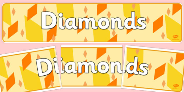 Diamonds Display Banner - diamonds, display banner, display