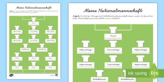 Mein Traum Fußballteam Arbeitsblatt - Fußball, Fussball, WM