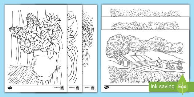 Vincent van gogh free to color for kids - Vincent Van Gogh Kids ... | 315x630
