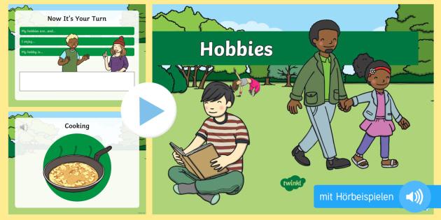 Meine Hobbys PowerPoint Präsentation - Hobbies, Freizeit