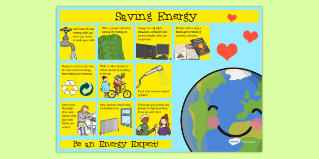 Saving energy poster saving energy poster display saving for Ways to save energy at home for kids