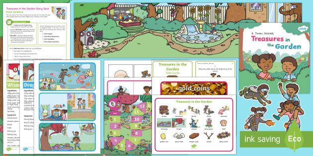 Treasures in the Garden Story Sack Resource Pack - KS1, EYFS