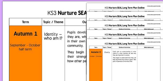 Nurture SEAL Long Term Plan Outline - nurture, seal, long term, plan, outline