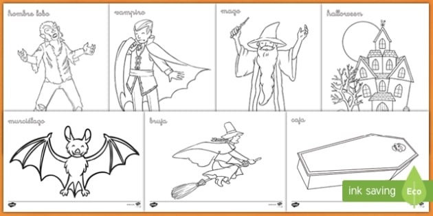 Halloween Colouring Pages Teacher Made