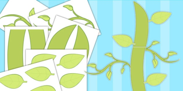 Large Stalk and Leaves Display Cut Outs - Stalk, Leaves, Display