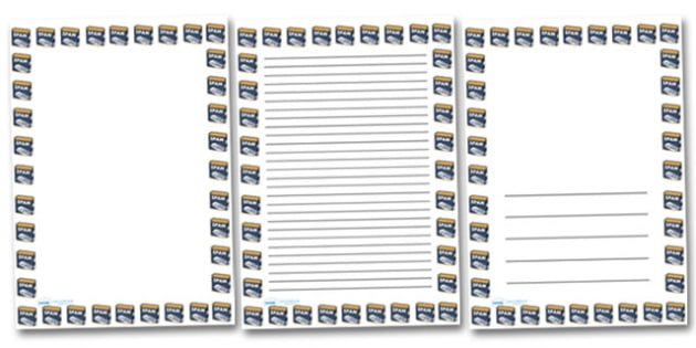 Spam Portrait Page Borders- Portrait Page Borders - Page border, border, writing template, writing aid, writing frame, a4 border, template, templates, landscape