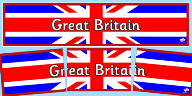 Great Britain Display Banner - Great Britain, display, banner, sign, poster, geography, England, Scotland, Ireland, Wales