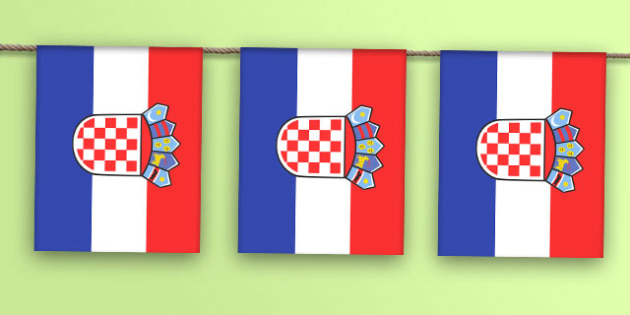 Croatia Flag Bunting - world, display, country, countries, flags, map