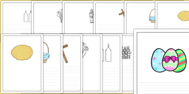 It Is Easter Time Writing Frames - it is easter time, writing frames, writing, frames