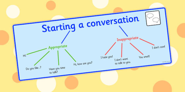 Starting A Conversation Visual Support - starting, conversation