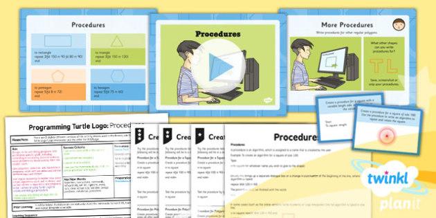 Computing: Programming Turtle Logo: Procedures Year 4 Lesson Pack 1