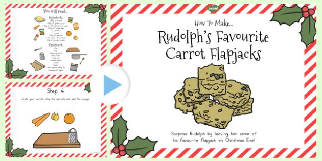 Rudolphs Favourite Carrot Flapjacks Recipe PowerPoint - australia