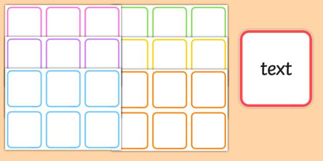 Editable Colourful Boxes - change, make, boxes, cubes, colour, bright, ks1, infants, display, fun, ks2,