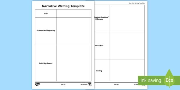 Narrative Writing Template Story Literacy Box Up Talk4writing