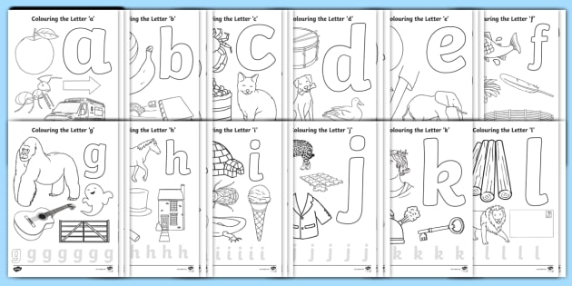Alphabet Colouring Pages Resource Pack - alphabet, letter ...