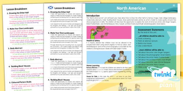 Art: North American Art UKS2 Planning Overview CfE
