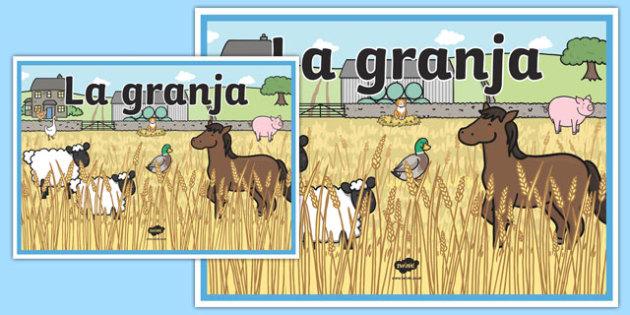 Cartel La granja