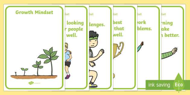 EYFS Growth Mindset Statement Posters