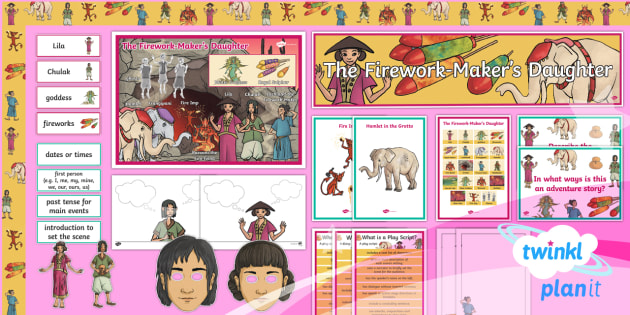 Explorers: The Firework-Maker's Daughter Y3 Display Pack To Support Teaching on 'The Firework-Maker's Daughter' - Lyla, his dark materials, Chinese new year, asia, adventure story