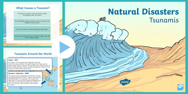 New Zealand Tsunami PowerPoint - New Zealand Natural Disasters, earthquake, tsunami, volcano, monsoon, hurricane, flood, tornado
