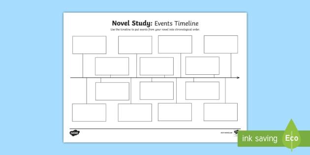 novel study events timeline worksheet activity sheet cfe
