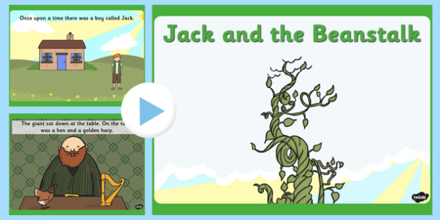 Jack and the Beanstalk Story Powerpoint - jack and the beanstalk, story, powerpoint, jack, beanstalk
