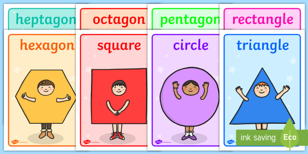 Meet the Shapes Display Posters - shapes, shapes posters, shapes display posters, meet the shapes posters, meet the shapes, numeracy posters, numeracy