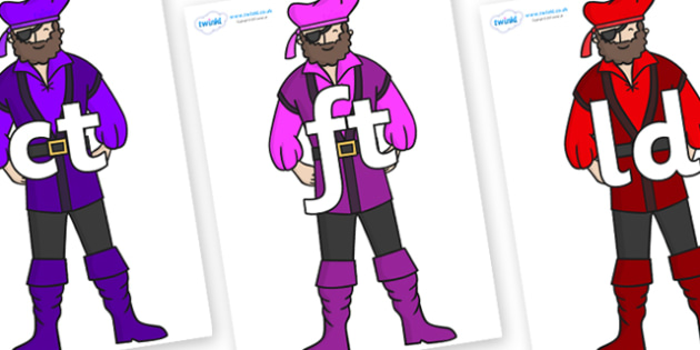 Final Letter Blends on Pirates - Final Letters, final letter, letter blend, letter blends, consonant, consonants, digraph, trigraph, literacy, alphabet, letters, foundation stage literacy