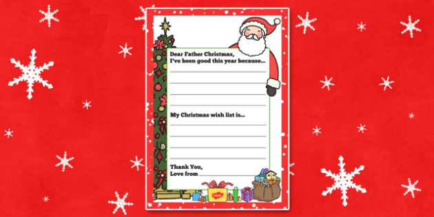 My Christmas Wish Letter to Father Christmas - christmas, wish, letter, father christmas