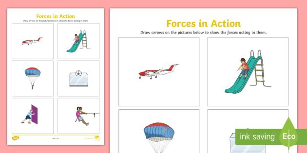 Labelling Forces Worksheet - forces, forces worksheet, forces