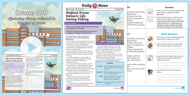 UKS2 Drone Delivery Daily News Resource Pack