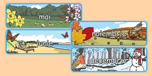 Lunile anului în anotimpuri - Planșe