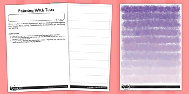 Paul Klee Painting with Tints Activity Instructions and Template - template, paul, klee