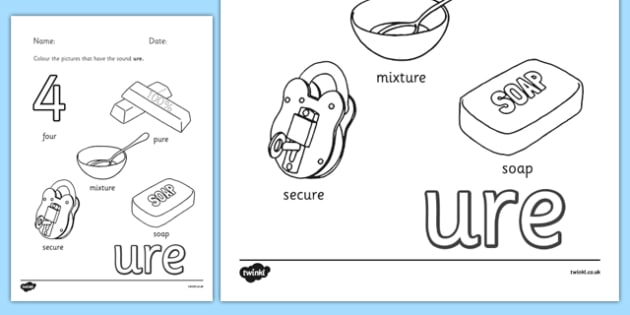 Phase 3 Trigraph Colouring Sheets ure - phase 3, trigraph, colouring, sheets, ure