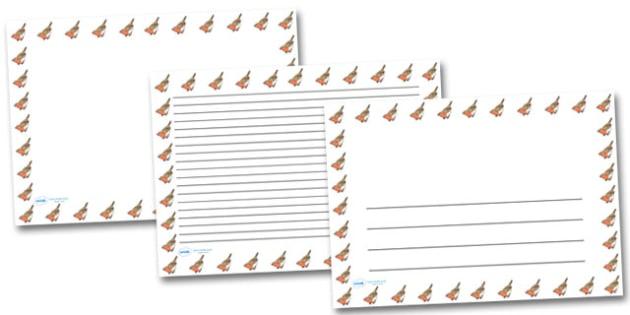 Robin Landscape Page Borders- Landscape Page Borders - Page border, border, writing template, writing aid, writing frame, a4 border, template, templates, landscape