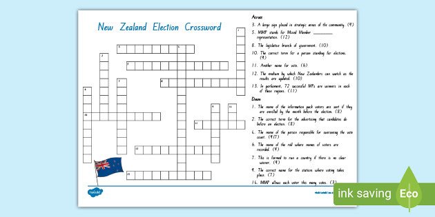 Elections And Voting Crossword Wordmint