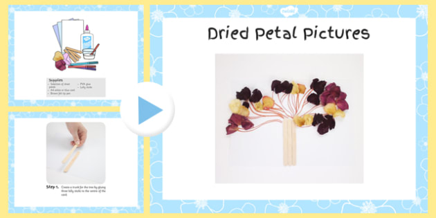 Dried Petal Picture Craft Instructions PowerPoint - craft, powerpoint, petal, dried, instructions